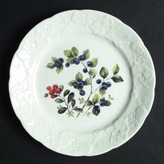 Dansk Ivy Accent Salad Plate, Fine China Dinnerware   Embossed Rim,Various Flora