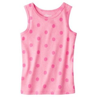 Circo Infant Toddler Girls Ribbed Polka Dot Tank Top   Dazzle Pink 5T