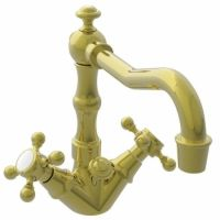 Newport Brass NB932 03N Chesterfield Single Hole Lavatory Faucet, Cross Handles