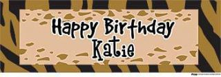 Jungle Customized Memories Vinyl Banner    24 x 72 Inches, Brown, Orange, Yellow