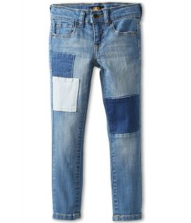 Lucky Brand Kids Girls Patchwork Cate Skinny Jean Girls Jeans (Blue)
