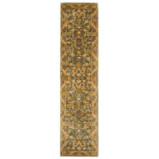 Safavieh Antiquities Majesty Blue/Gold Rug AT52C Rug Size Runner 23 x 10