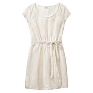 Merona Womens Lace Sheath Dress   Sour Cream   XS
