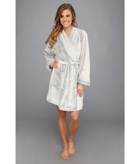 Josie Solid Plush Wrap Womens Robe (Gray)