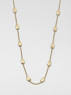Marco Bicego 18K Yellow Gold Station Necklace/Very Long   Gold