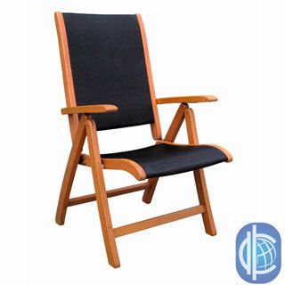 International Caravan Royal Tahiti Segovia Seat 5 position Folding Arm Chair (set Of 2) (Light Teak Oil FinishMaterials Yellow Balau HardwoodFinish Natural Oil Stain FinishWeather resistantTextweave Seat and Back SupportsDimensions 44 inches high x 28.