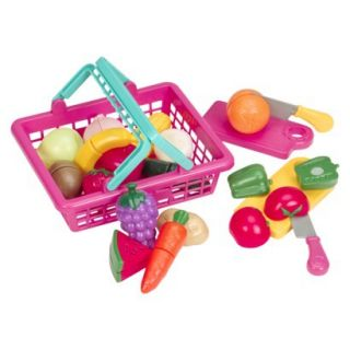 Playcircle Velcro Food in Shopping Basket