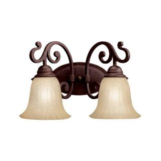 Kichler 5988CZ Bathroom Light, Transitional Bath 2Light Fixture Carre Bronze