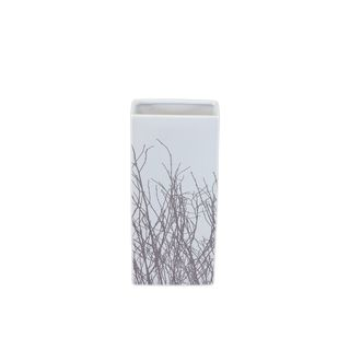 Urban Trends Collection Small White Ceramic Vase (6.5 inches x 3.5 inches x 14 inchesUPC 877101005735For decorative purposes onlyDoes not hold water CeramicSize 6.5 inches x 3.5 inches x 14 inchesUPC 877101005735For decorative purposes onlyDoes not hol