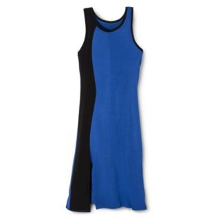 Mossimo Womens Colorblock Midi Dress   Blue/Black XXL
