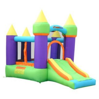 Bounceland Magic Castle Bounce House Inflatable Bouncer   Green/ Purple/ Yellow