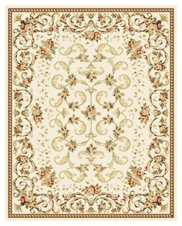 Lyndhurst Collection Floral Ivory Rug (8 X 11) (GreenPattern FloralMeasures 0.375 inch thickTip We recommend the use of a non skid pad to keep the rug in place on smooth surfaces.All rug sizes are approximate. Due to the difference of monitor colors, so