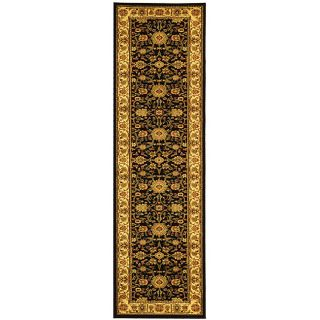 Lyndhurst Collection Majestic Black/ Ivory Runner (23 X 14)