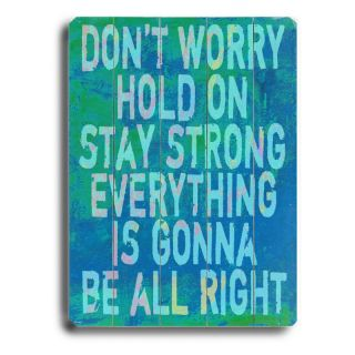 Artehouse Dont Worry Wall Art   14W x 20H in. Multicolor   0003 9046 26