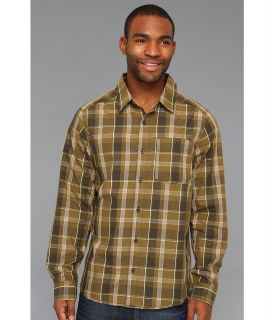 Mountain Hardwear Franklin L/S Shirt Mens Long Sleeve Button Up (Green)
