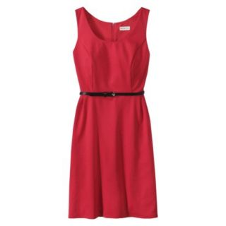 Merona Petites Sleeveless Fitted Dress   Red XSP