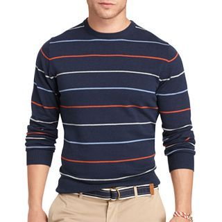 IZOD Fine Gauge V Neck Sweater, Midnight, Mens