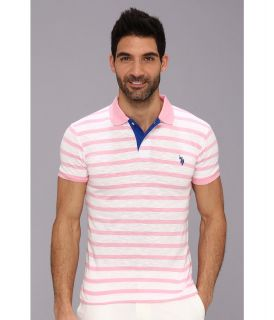 U.S. Polo Assn Stripe Slub Polo Mens Short Sleeve Knit (Multi)