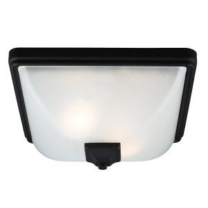 Sea Gull Lighting SEA 7828402BLE 12 Irving Park Two Light Outdoor Ceiling Flush