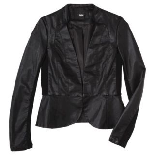 Mossimo Womens Faux Leather Motorcycle Jacket  Black L
