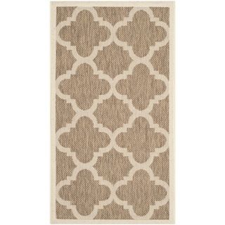Safavieh Indoor/ Outdoor Courtyard Brown Rug (2 X 37)