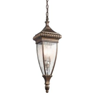 Kichler 49134BRZ Outdoor Light, Classic (Formal Traditional) Pendant 2 Light Fixture Bronze