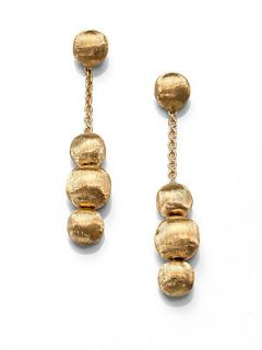 Marco Bicego 18K Yellow Gold Ball Chain Link Drop Earrings   Gold