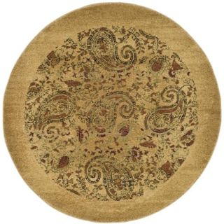 Lyndhurst Collection Paisley Beige/ Multi Rug (5 3 Round)