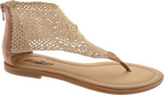 Womens Lucky Brand Cropley   Natural/Dark Camel Elastic Shoes
