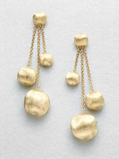 Marco Bicego 18K Yellow Gold Multi Strand Drop Earrings   Gold