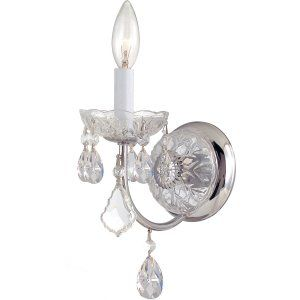 Crystorama Lighting CRY 3221 CH CL S Imperial Imperial 1 Light Elements Crystal