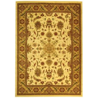 Lyndhurst Collection Ohsak Ivory/ Tan Rug (9 X 12)