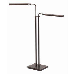 House of Troy HOU G300 2 HB Generation Adjustable Double Floor LED Lamp Hammered