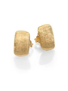Marco Bicego 18K Yellow Gold Rectangle Stud Earrings   Gold