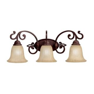 Kichler 5989CZ Bathroom Light, Transitional Bath 3Light Fixture Carre Bronze