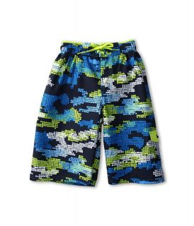Nike Kids Tech Camo Volley Short Boys Swimwear (Blue)