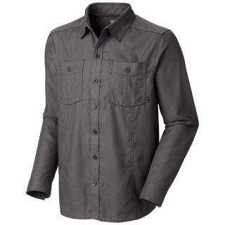 Mountain Hardwear Solid Flannel Twill Shirt   Long Sleeve (For Men)   SHARK (L )