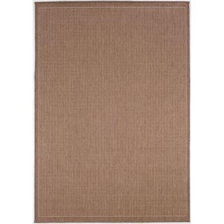 Recife Saddle Stitch Cocoa Rug (53 X 76) (BrownSecondary colors Natural beigePattern StripeTip We recommend the use of a non skid pad to keep the rug in place on smooth surfaces.All rug sizes are approximate. Due to the difference of monitor colors, so
