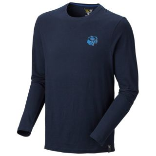 Mountain Hardwear Eroded Logo T Shirt   Long Sleeve (For Men)   COLLEGIATE NAVY (L )