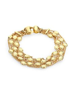 Marco Bicego 18K Yellow Gold Multi Row Station Bracelet   Gold