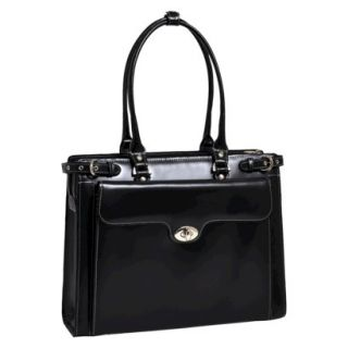 McKleinUSA Winnetka Leather Ladies Briefcase with Removable Sleeve   Black
