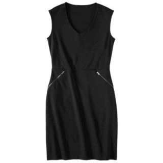 Mossimo Womens Ponte Sleeveless Dress w/ Zippered Pockets   Black S