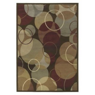 Contemporary Circles Area Rug   Brown (710x10)