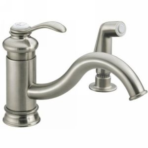 Kohler K 12176 BN Fairfax Single Handle Kitchen Faucet with Side Spray