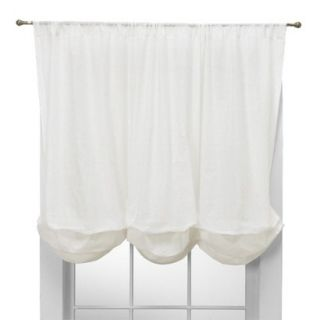Simply Shabby Chic Embroidered Batiste Balloon Window Valance  White (60x63)