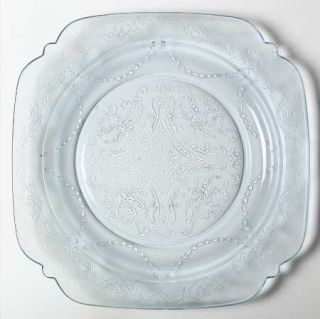 Federal Glass  Madrid Blue Luncheon Plate   Madonna Blue,Depression Glass