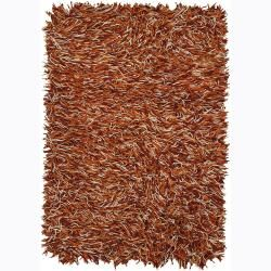 Hand woven Mandara Flat Cut Pile New Zealand Wool Rug (9 X 13) (Red, ivory, OrangePattern Shag Tip We recommend the use of a  non skid pad to keep the rug in place on smooth surfaces. All rug sizes are approximate. Due to the difference of monitor color
