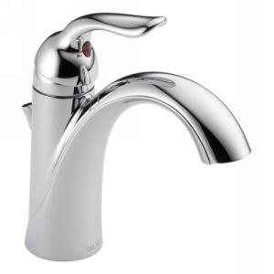 Delta Faucet 538 MPU DST Lahara Single Handle Bathroom Faucet with Metal Pop Up