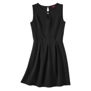 Merona Womens Textured Sleeveless Keyhole Neck Dress   Black   S