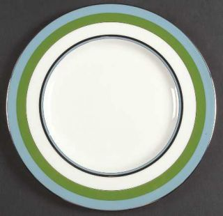 Lenox China Library Lane Aqua Accent Luncheon Plate, Fine China Dinnerware   Kat